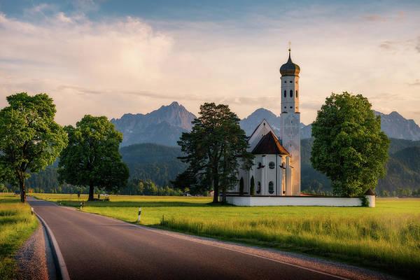 Photograph - St Coloman Church - Schwangau, Germany by Nico Trinkhaus