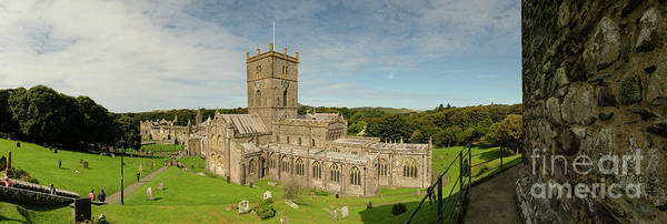 Photograph - St David's Cathedral Panorama by Keith Morris