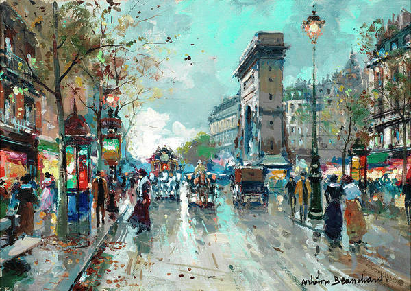 Wall Art - Painting - St. Denis Gate by Antoine Blanchard