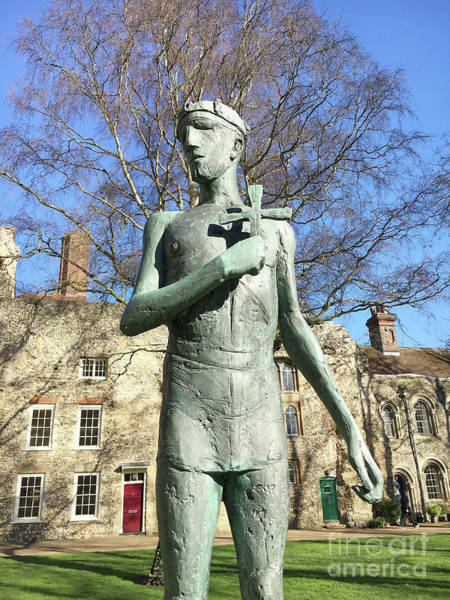 Wall Art - Photograph - St Edmunds Statue by Tom Gowanlock