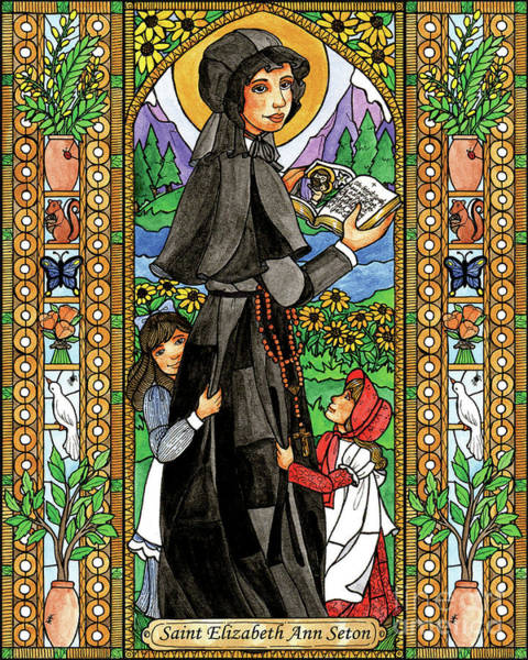 Painting - St. Elizabeth Ann Seton by Brenda Nippert