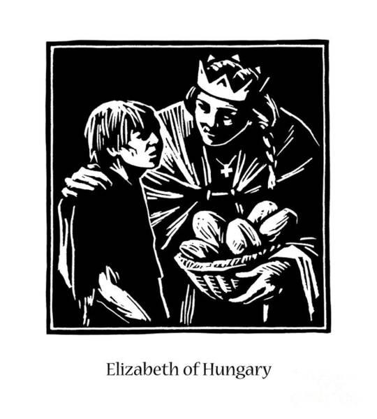 Painting - St. Elizabeth Of Hungary - Jlelh by Julie Lonneman
