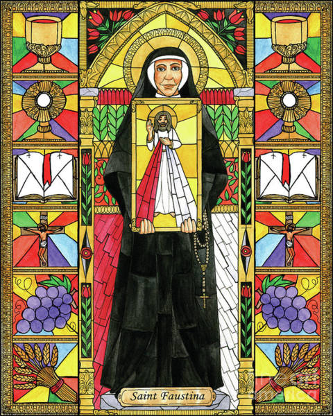 Painting - St. Faustina by Brenda Nippert