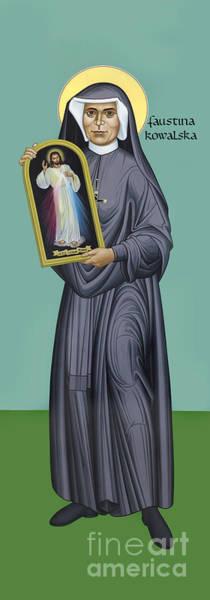 Painting - St. Faustina Kowalska - Rlfak by Br Robert Lentz OFM