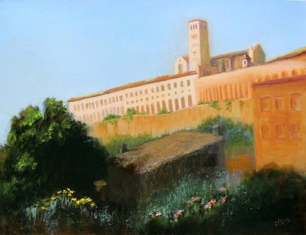 Wall Art - Painting - St. Francais Of Assissi by Christy Olsen
