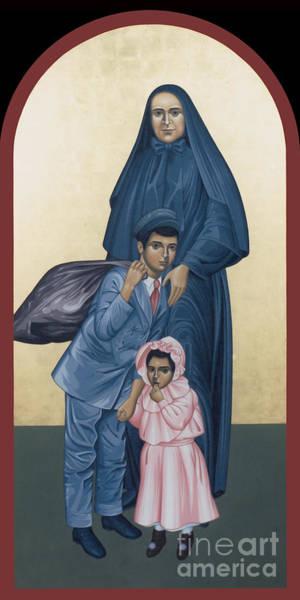 Painting - St. Frances Cabrini - Rlfrc by Br Robert Lentz OFM