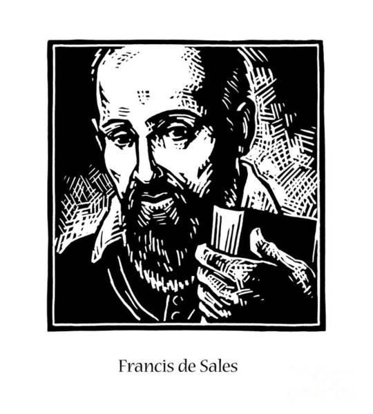 Painting - St. Francis De Sales - Jlfds by Julie Lonneman