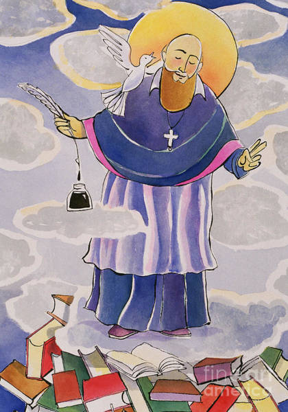 Painting - St. Francis De Sales, Patron Of Writers - Mmpow by Br Mickey McGrath OSFS