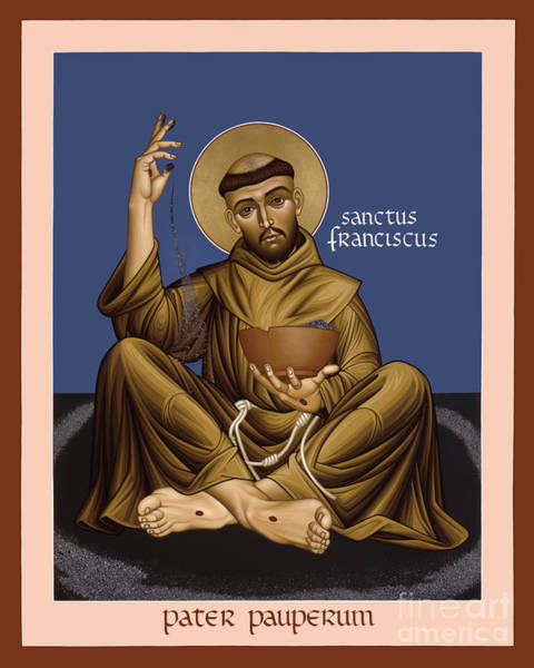 Painting - St. Francis, Father Of The Poor - Rlffp by Br Robert Lentz OFM