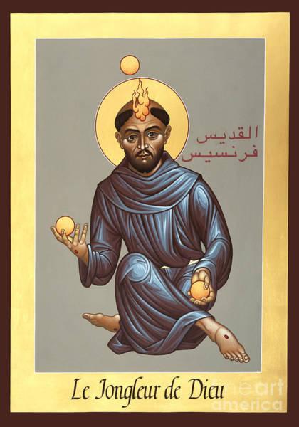 Painting - St. Francis, Jongleur De Dieu - Rlfoj by Br Robert Lentz OFM