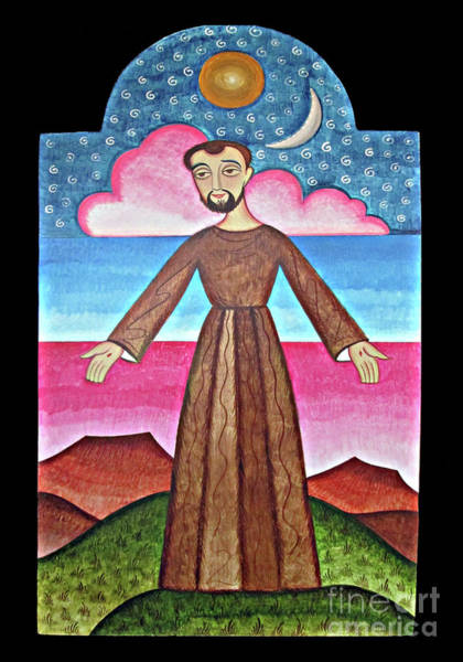 Painting - St. Francis Of Assisi - Herald Of Creation - Aofhc by Br Arturo Olivas OFS
