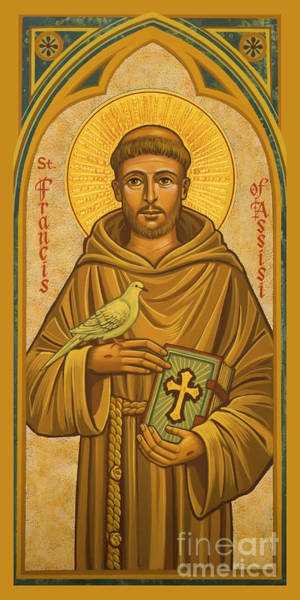 Painting - St. Francis Of Assisi - Jcfsi by Joan Cole