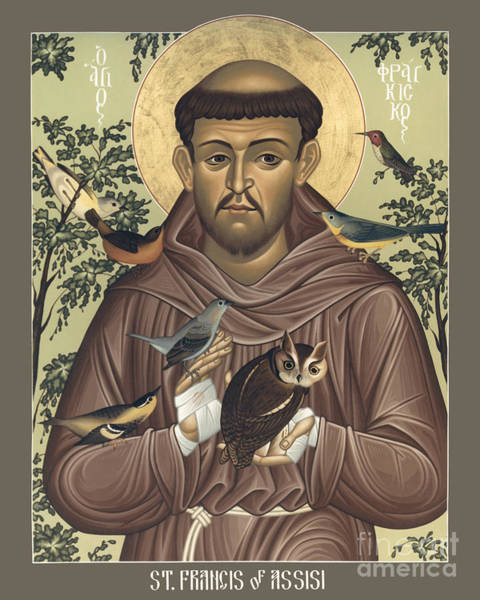 Painting - St. Francis Of Assisi - Rlfoa by Br Robert Lentz OFM