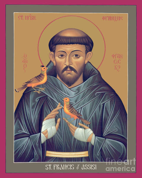 Painting - St. Francis Of Assisi - Rlfob by Br Robert Lentz OFM