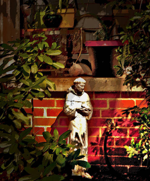 Wall Art - Photograph - St Francis Of The Garden Hose by David A Brown