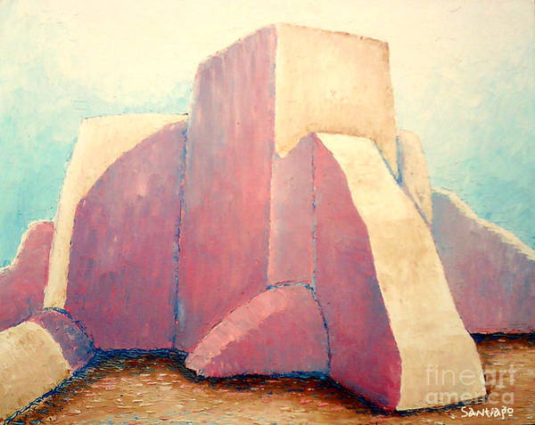 Painting - St Francis Trombe In Taos Nm by Santiago Chavez