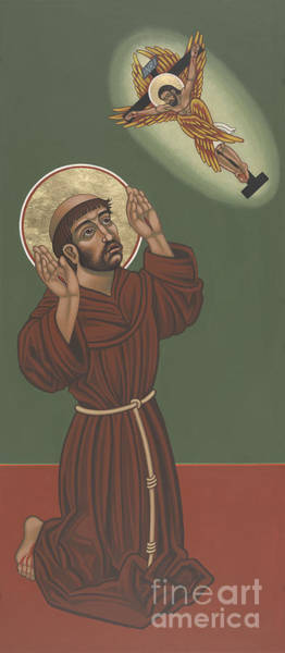 Painting - St Francis- Viriditas  by William Hart McNichols