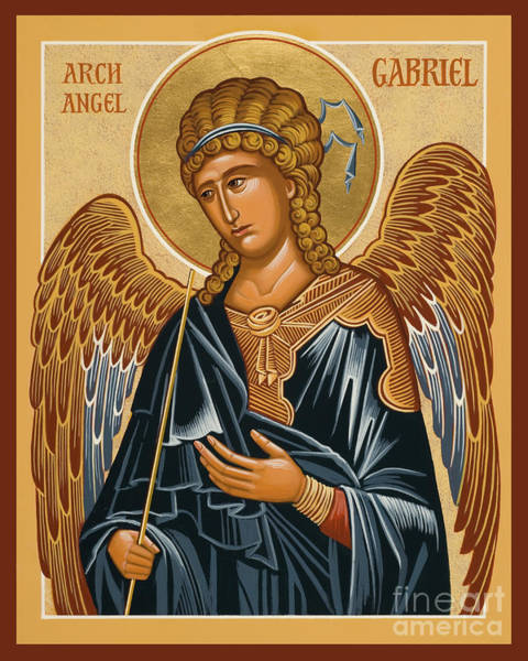 Painting - St. Gabriel Archangel - Jcarb by Joan Cole