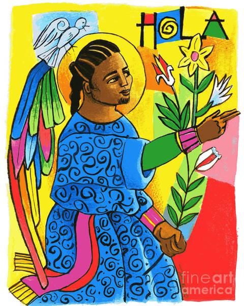 Painting - St. Gabriel Archangel - Mmgbr by Br Mickey McGrath OSFS