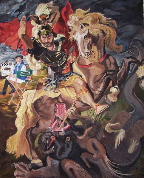 Painting - St George And The Dragon by Stella Sherman