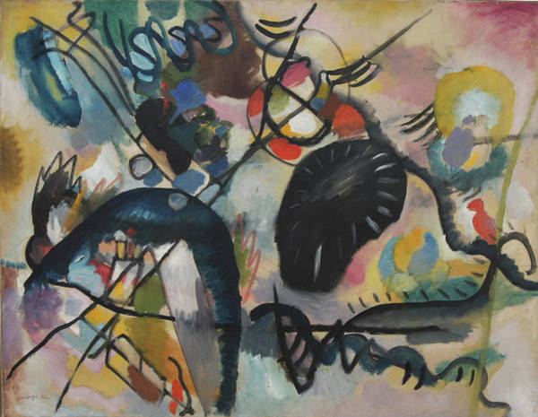 Black Spot I Art Print by Wassily Kandinsky