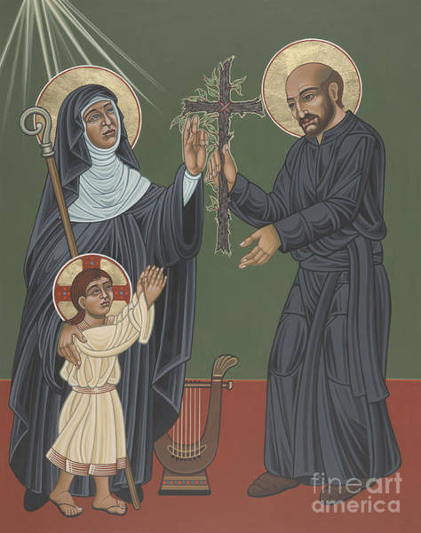 Painting - St Hildegard And St Ignatius- Viriditas  by William Hart McNichols