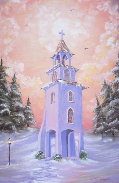 Wall Art - Painting - St. Ignacius Steeple by Jerry McElroy