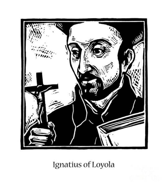 Painting - St. Ignatius - Jlign by Julie Lonneman