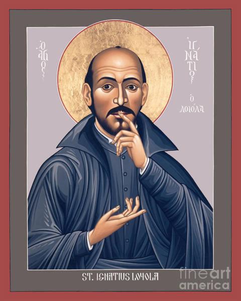 Painting - St. Ignatius Loyola - Rligl by Br Robert Lentz OFM