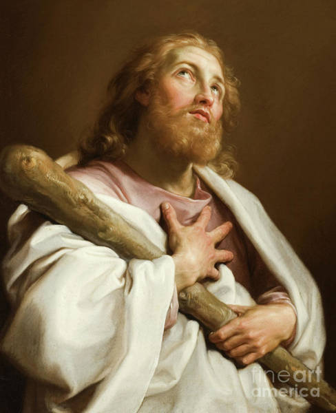 Looking Up Painting - St James The Less by Pompeo Girolamo Batoni