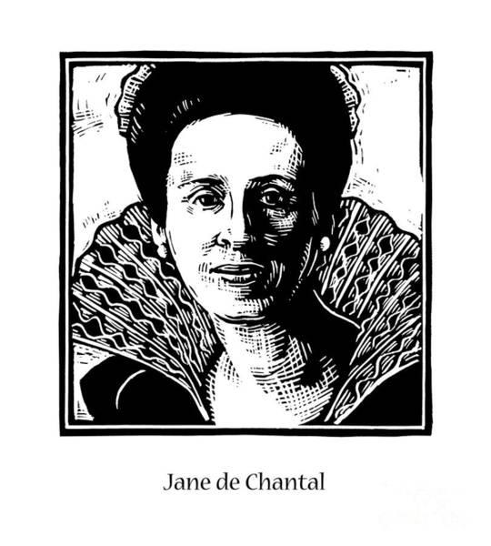 Painting - St. Jane Frances De Chantal - Jljac by Julie Lonneman