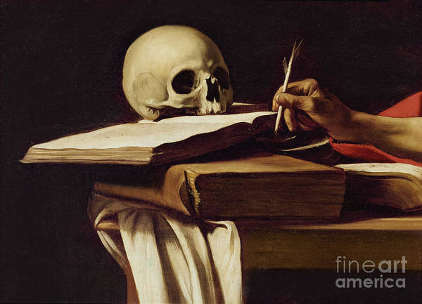 Ivory Painting - St. Jerome Writing by Caravaggio