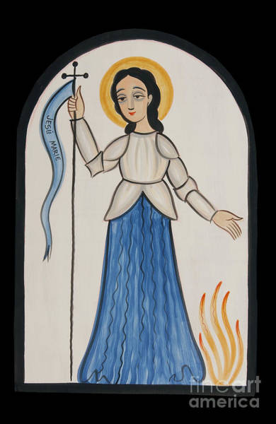 Painting - St. Joan Of Arc - Aojar by Br Arturo Olivas OFS