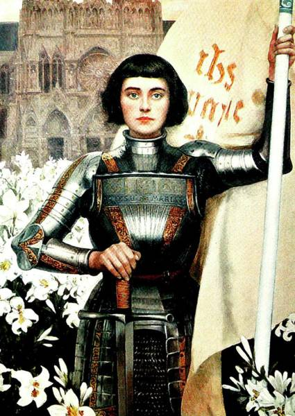 Devotion Wall Art - Mixed Media - St Joan Of Arc - Jeanne D'arca by Albert Lynch