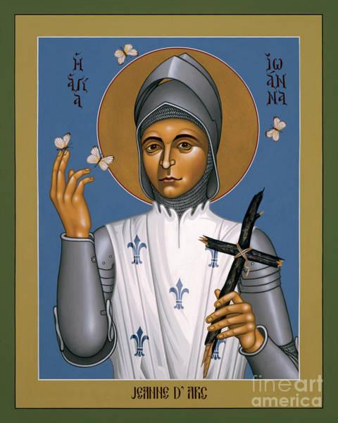 Painting - St. Joan Of Arc - Rljoa by Br Robert Lentz OFM
