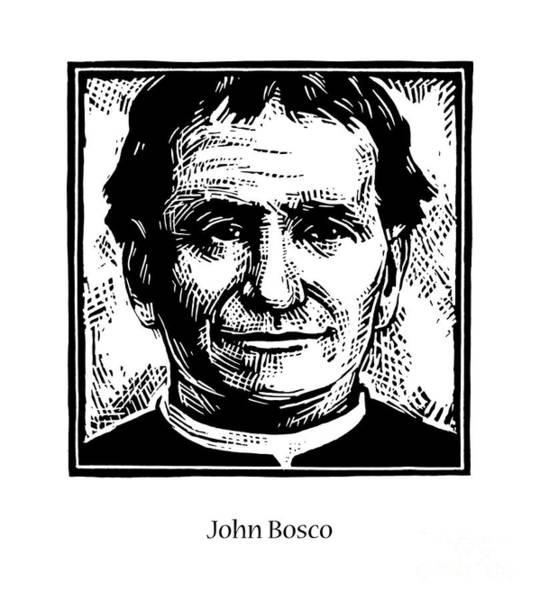Painting - St. John Bosco - Jlbos by Julie Lonneman