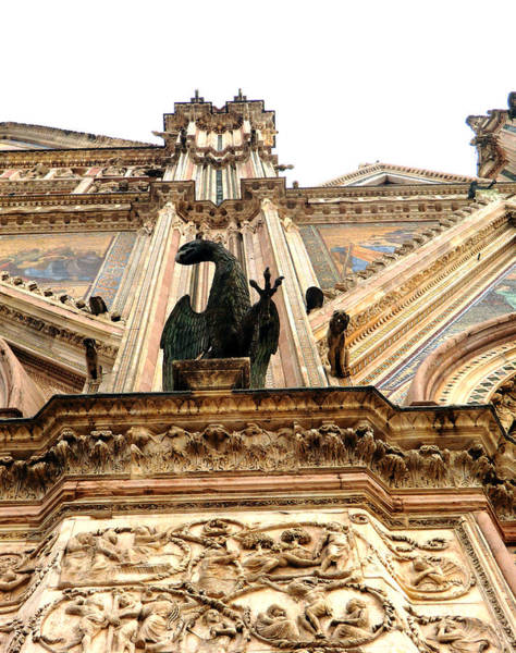 Wall Art - Photograph - St. John Is The Eagle Of Orvieto by Mindy Newman