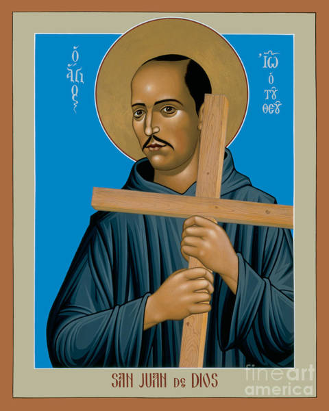 Painting - St. John Of God - Rljdd by Br Robert Lentz OFM