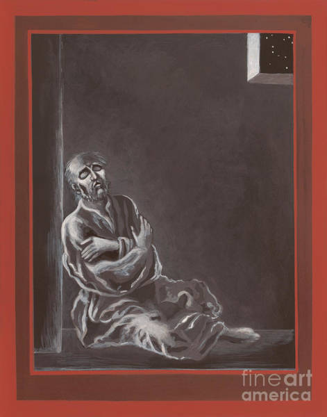 Painting -  St John Of The Cross In The Dark Night Of The Soul 290 by William Hart McNichols
