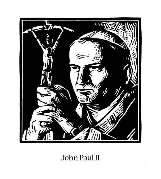 Painting - St. John Paul II - Jljop by Julie Lonneman