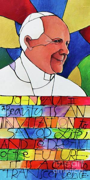 Painting - St. John Paul II - Mmjpa by Br Mickey McGrath OSFS