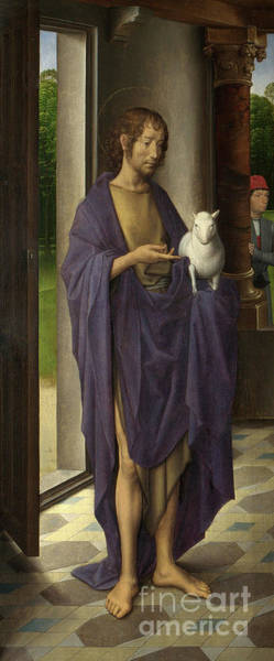 Wall Art - Painting - St John The Baptist From The Donne Triptych by Hans Memling