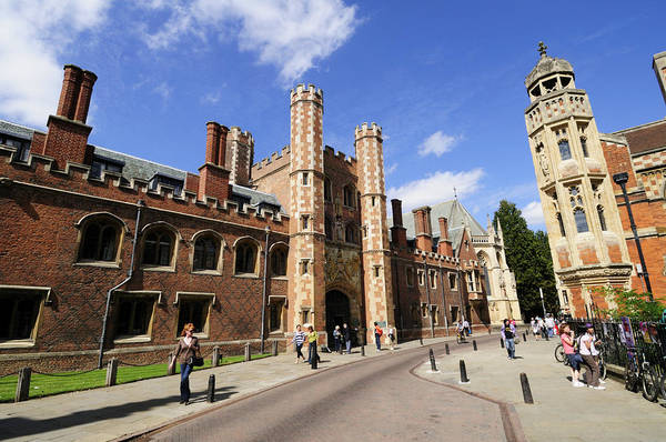Wall Art - Photograph - St John's College In Cambridge by Liz Pinchen