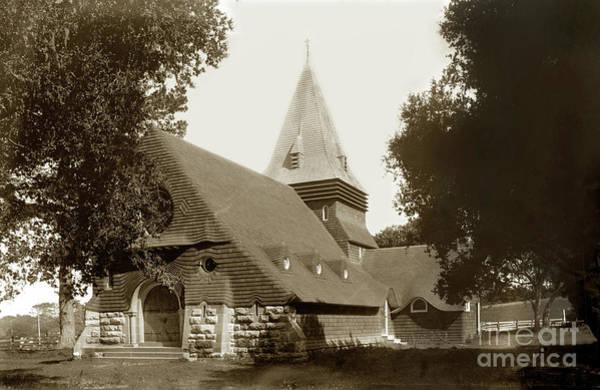 Photograph - St. Johns  Episcopal Church, Monterey Circa 1900 by California Views Archives Mr Pat Hathaway Archives