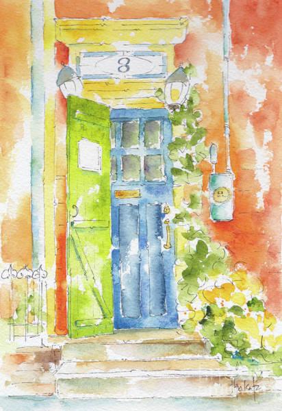 Painting - St Johns Jelly Bean At 8 Wood Street by Pat Katz
