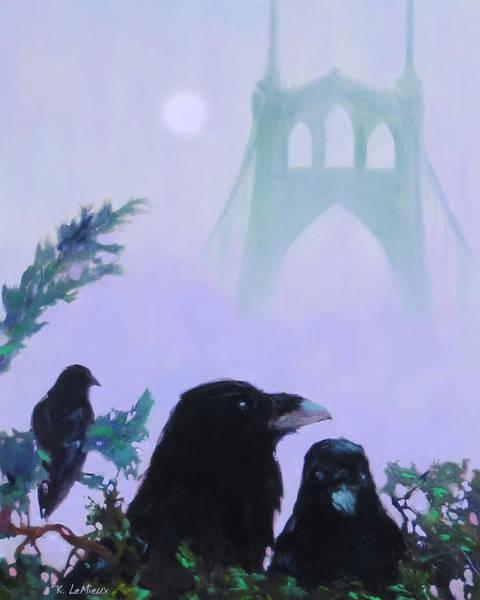 Raven Digital Art - St. Johns Ravens by Kathryn LeMieux