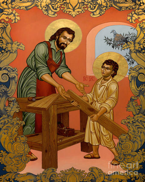Painting - St. Joseph And Christ Child - Lwjpc by Lewis Williams OFS