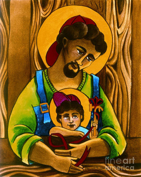 Painting - St. Joseph And Son - Mmjas by Br Mickey McGrath OSFS