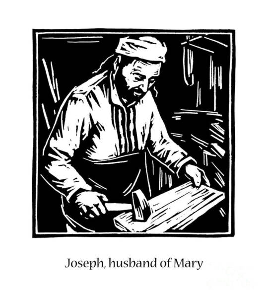 Painting - St. Joseph, Husband Of Mary - Jljhm by Julie Lonneman