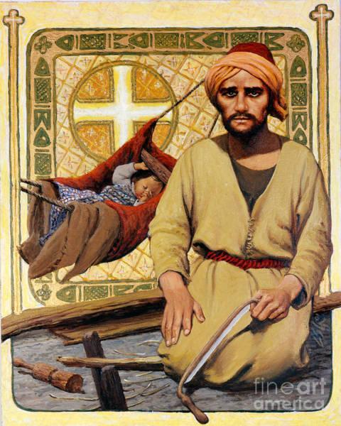 Painting - St. Joseph - Lgjoh by Louis Glanzman